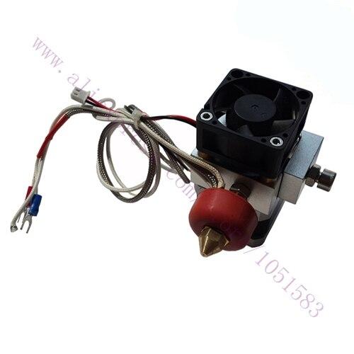 купить 3D Printer 12V 0.4mm Nozzle K-Thermocouple 3D Printer Single nozzle Print Head/ K type thermocouple Extruder free shipping по цене 2550.23 рублей