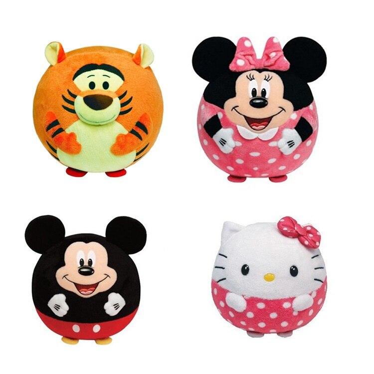 Baby Cartoon Rattle font b Toys b font Animal Hand Bells Hello Kitty Minnie Plush Filled