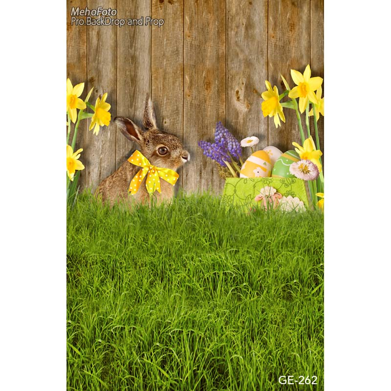 Easter rabbit in grass photography backdrops orchid flower fotografia photo background for photo studio photography background 10feet 6 5feet 300cm 200cm photo studio backdrop fotografia photography background photography backdrops trees rabbit radish