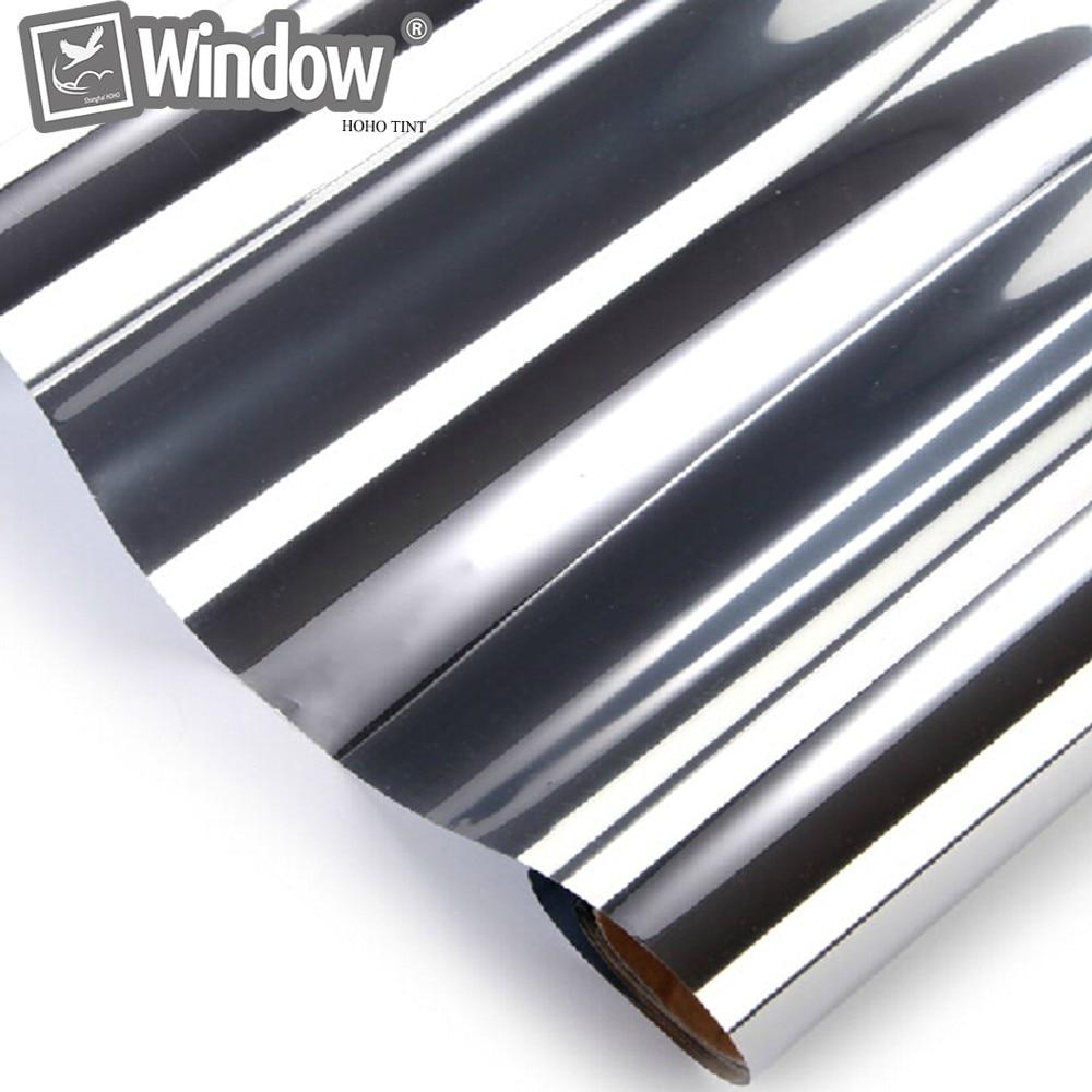 Film de teinte solaire argenté SUNICE 45 CM x 3000 CM 99% feuilles de fenêtre de rejet UV autocollant de Vision unidirectionnel Film verre de fenêtre 17.7