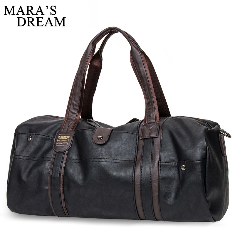 Mara's Dream 2018 Oil Wax Leather Handbags For Men Large-Capacity Portable Shoulder Bags Men's Fashion Travel Bags Package safebet brand high quality pu leather handbags for men large capacity portable shoulder bags men s fashion travel bags package