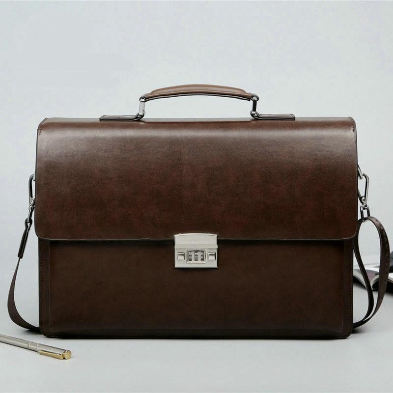 2019 Business Man Bag Theftproof Lock Cowhide Leather Briefcase For Man Solid Bank OL Mens Briefcase Innrech Market.com