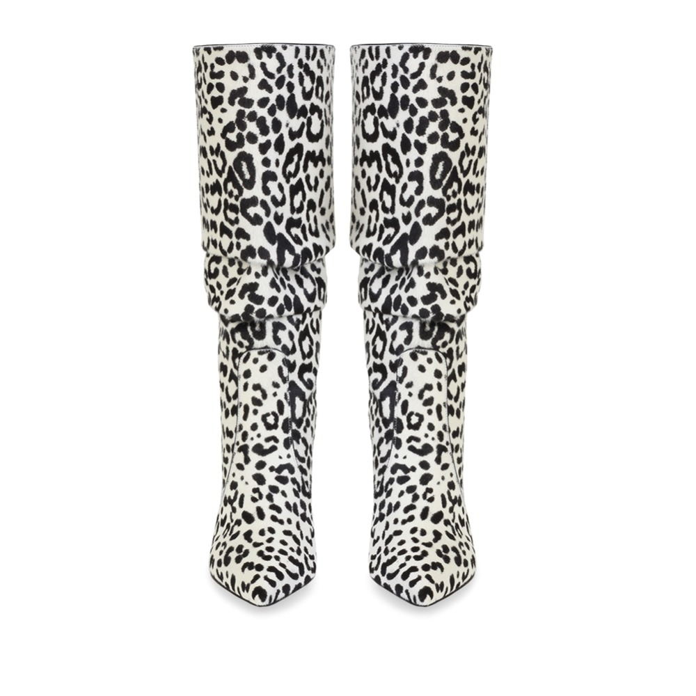 Leopard Alto Zapatos Para Primavera Alta Sexy pu Lining Brown Grande pu La Tacón Mujer Stretch Stilettos pu Lining Botas Otoño Moda 45 Rodilla Lining white Tamaño De pink 88XxwqOrZ