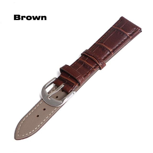 Horloge Band Lederen bandjes Horlogebanden 12mm 18mm 20mm 14mm 16mm 19mm 22mm horloge accessoires mannen Bruin Zwart Riem band