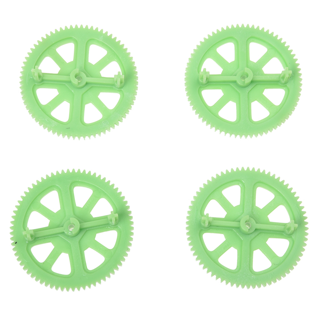 Motor Pinion Gears ,Shaft Clips Set Pieces for AR Drone 2.0 (Green)