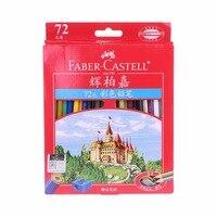 72 pcs Faber Castell Colored Pencils Lapis De Cor Professionals Artist Painting Oil Color Pencil with Roll up Canvas Pencil C