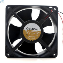 DHL Free Original KD1212PMB2-6A DC 12V 5.1W 0.4A 12038 120*120*38mm 2 Wires Computer Blower Double Ball Cooling Fan