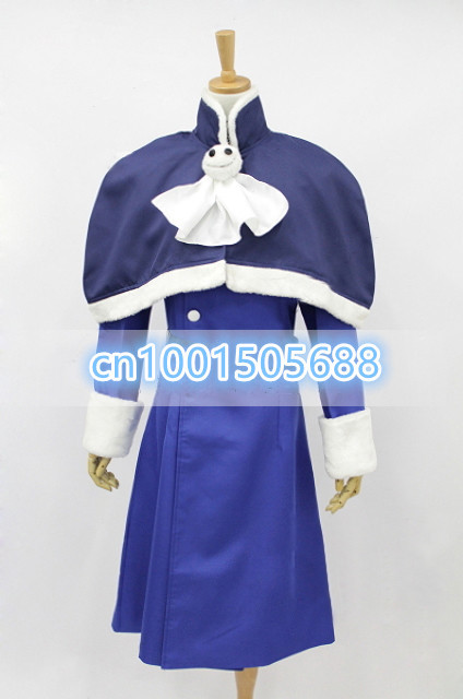 Fairy Tail Juvia Lockser dress Cosplay Costume Full Set All Size Custom Made Anime Clothing+hat
