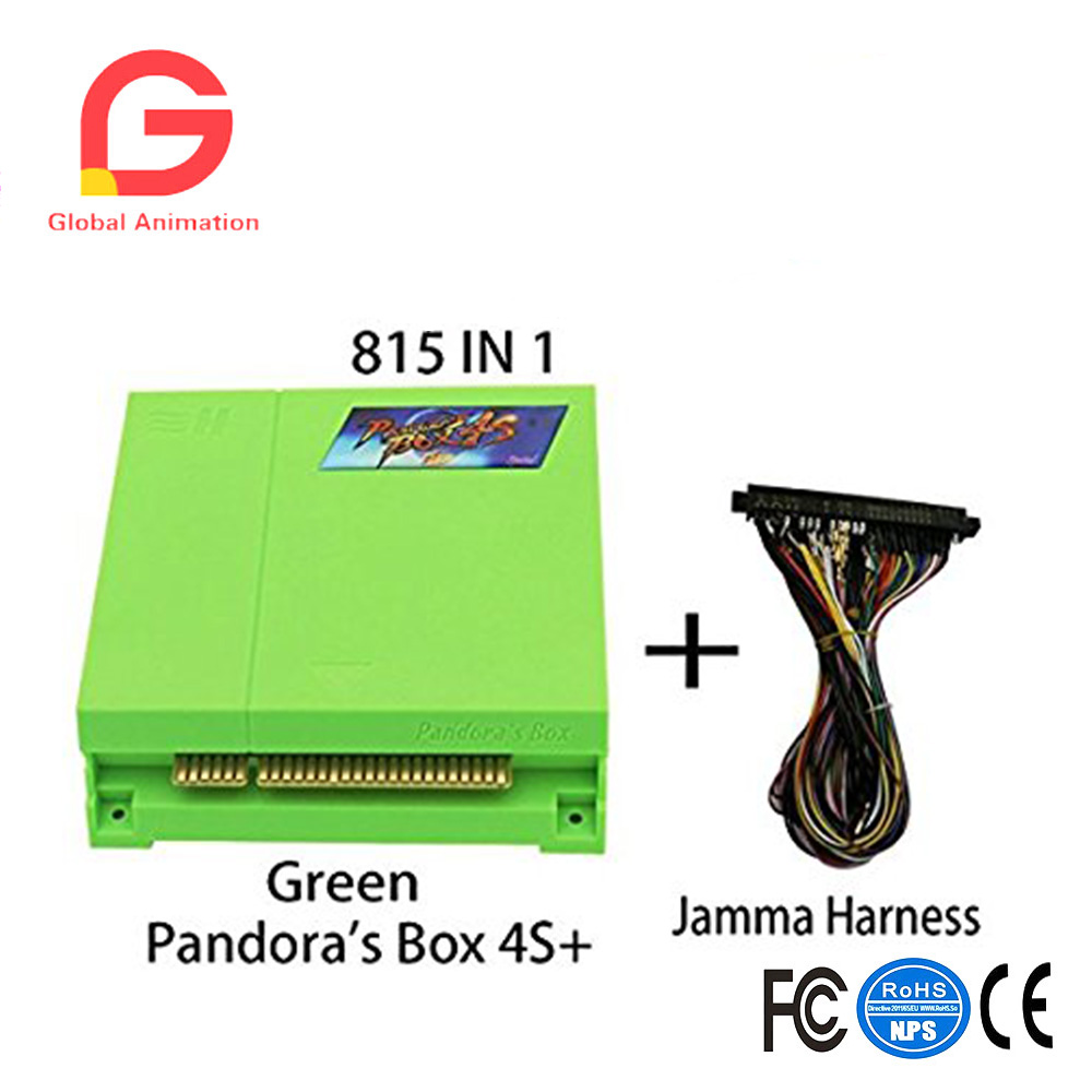 Game Box PCB 815 In 1 Multi Arcade Games Jamma Board with Jamma Harness VGA HDMI Output Arcade Cabinet - Green Wisamic