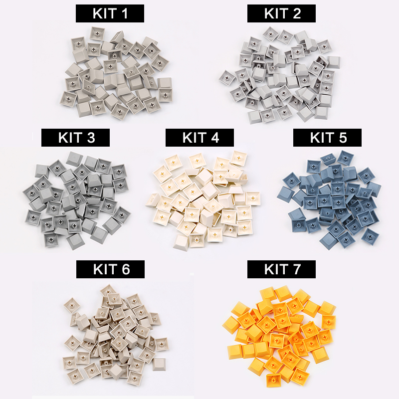 Enjoypbt Blank DSA Keycaps With Mixed Color For Cherry Mx Mechanical Keyboard