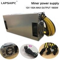 1800W miner power supply 6PIN*10 Antminer APW3++ 12 1600,ETH PSU,antminer S9 S7 L3 BTC LTC DASH Mining power ac adapter