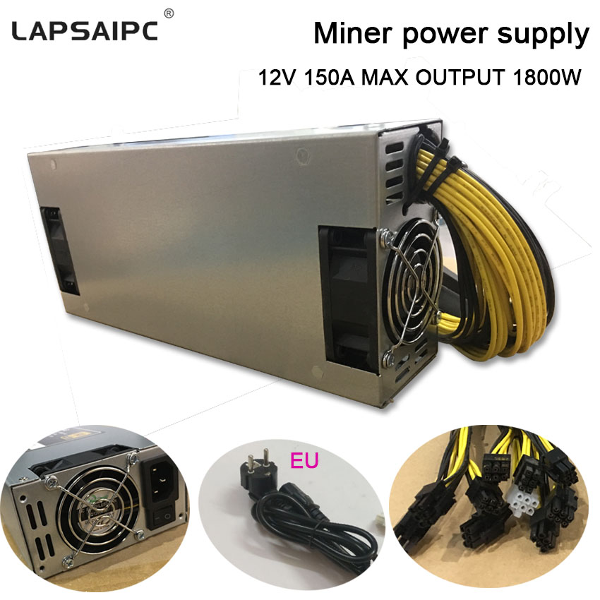 1800W miner power supply 6PIN*10 Antminer APW3++-12-1600,ETH PSU,antminer S9 S7 L3 BTC LTC DASH Mining power ac adapter yunhui dash miner antminer d3 17gh s 1200w on wall no power supply bitmain x11 dash mining machine can miner btc on nicehash