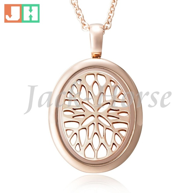 Newest rose gold oval locket pendant! 316 stainless steel photo oval ...
