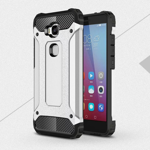 buy online 4b7e8 ae3e8 US $3.98 20% OFF|Huawei GR5 2016 Case ! Soft Silicon + PC Hard Armor Anti  knock Back Cover Case For Huawei Honor 5X-in Fitted Cases from Cellphones &  ...