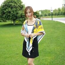 купить 100% Silk Scarf Large Square Neckerchief 2017 Foulard Luxury Brand Scarves For Women Shawl Bandana Scarf High Quality 130*130cm дешево