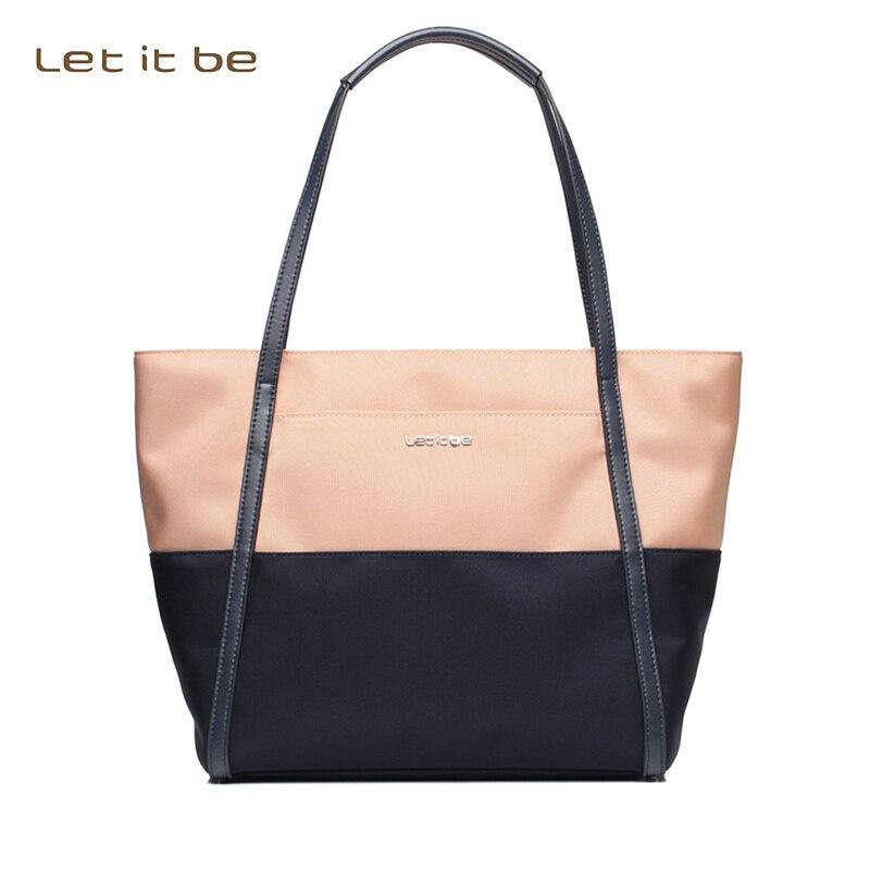 2016 Let it be brand Contrast color women bags bag shoulder bag oxford nylon designer waterproof casual tote bolsas