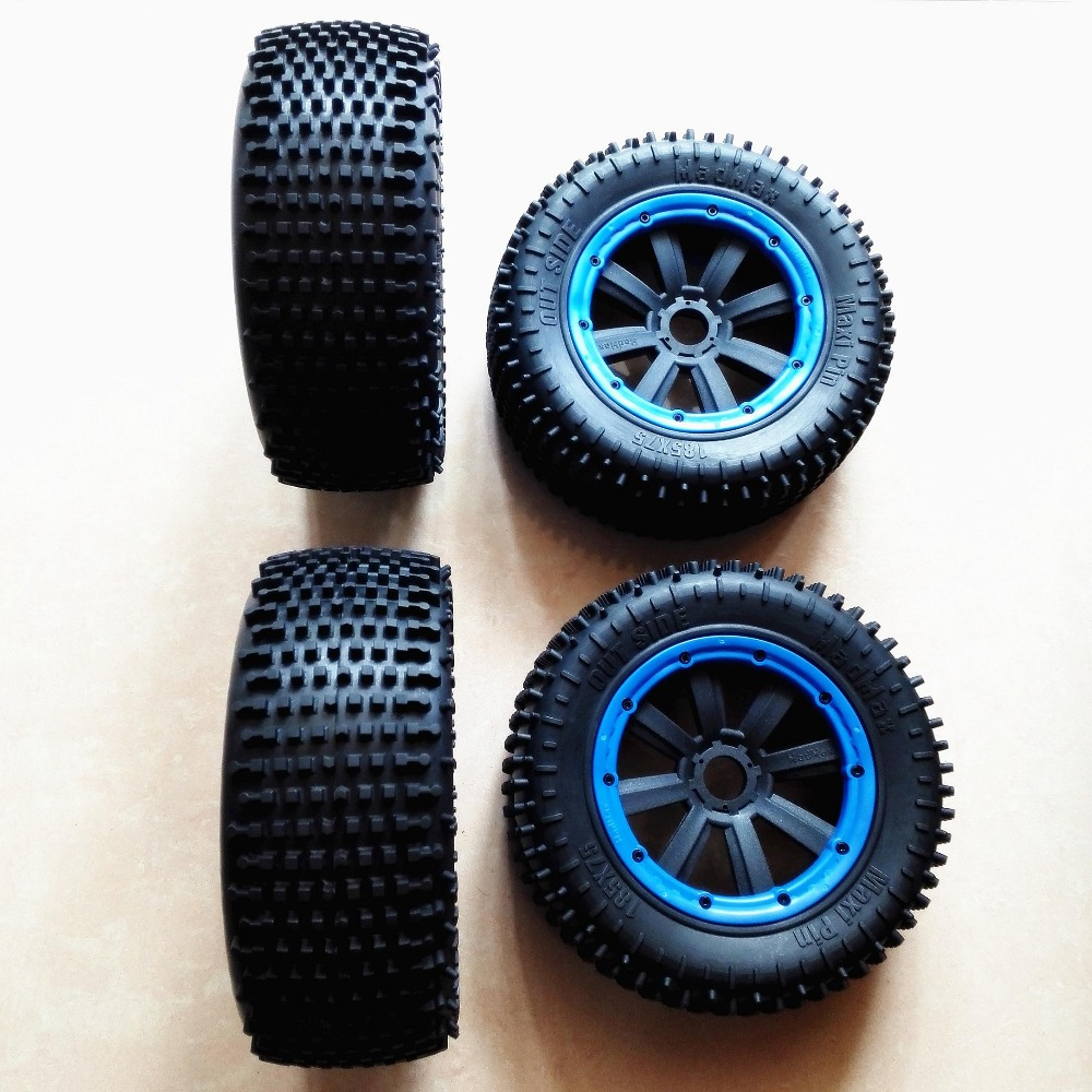 Wheels Waterproof Wear-Resistant Tire Small stud tread for HPI RV KM BAJA 5T 5SC LOSI 5IVE-T ROVAN LT KM X2 image
