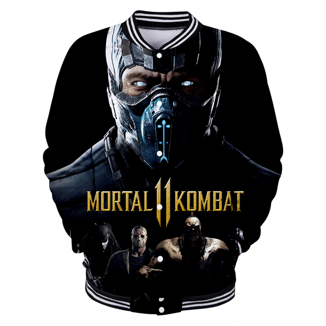 LUCKYFRIDAY 3D Mortal Kombat 11 Langarm Harajuku Baseball Jacke Frauen und männer Kleidung 2019 Heißer Verkauf Kpop Print Plus größe