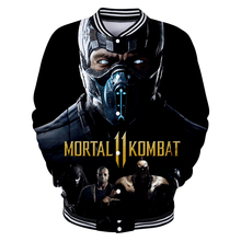 LUCKYFRIDAY 3D Mortal Kombat 11 Long Sleeve Harajuku Baseball Jacket Women and men Clothes 2019 Hot Sale Kpop Print Plus Size