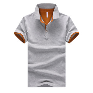 2017 الصيف الصلبة تنفس 95% القطن ضئيلة قصيرة الأكمام أوم زائد حجم 3XL 4XL العلامة التجارية رجل لعبة البولو قميص