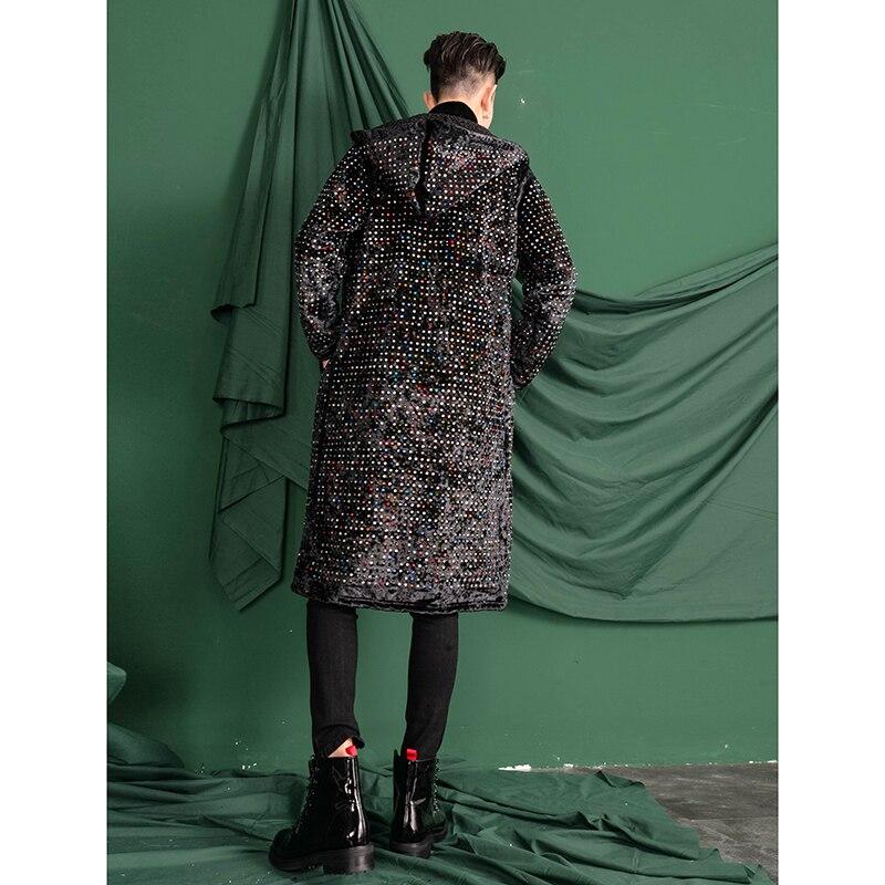 Тяжелое ремесло замша гладильная дрель с капюшоном длинный Тренч пальто мужские выше колена пальто похудение тренд. M 3XL!