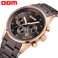 Dom hombres mens relojes de primeras marcas de lujo de cuarzo resistente al agua relojes deportivos para hombres reloj de oro de acero inoxidable m540