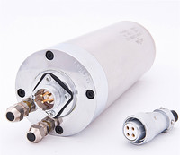3HP 2.2kw 24000RPM ER20 water cooling Woodworking AC Spindle motor 80mm 4 bearings 380VAC 6A 400hz CNC Router