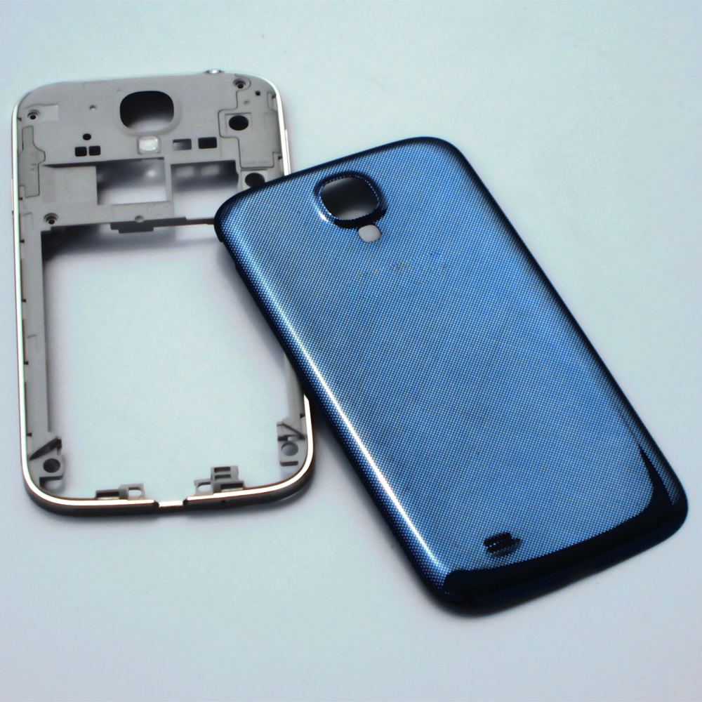 Original Replacement Parts for SIV S4 i9505 I9500 I337 M919 Middle Frame Housing Case Bezel & Blue Battery Door Cover Case