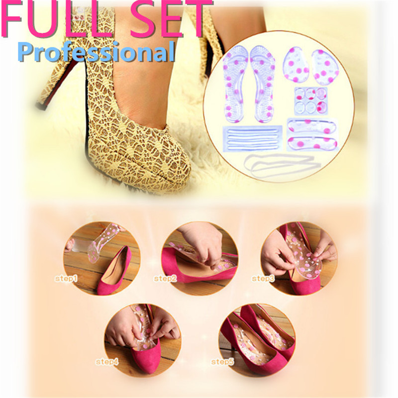 6Pcs/Set Silicone Gel High Heel Shoe Foot Inserts Pads Protector Heel Liner Invisible Cushion Insole