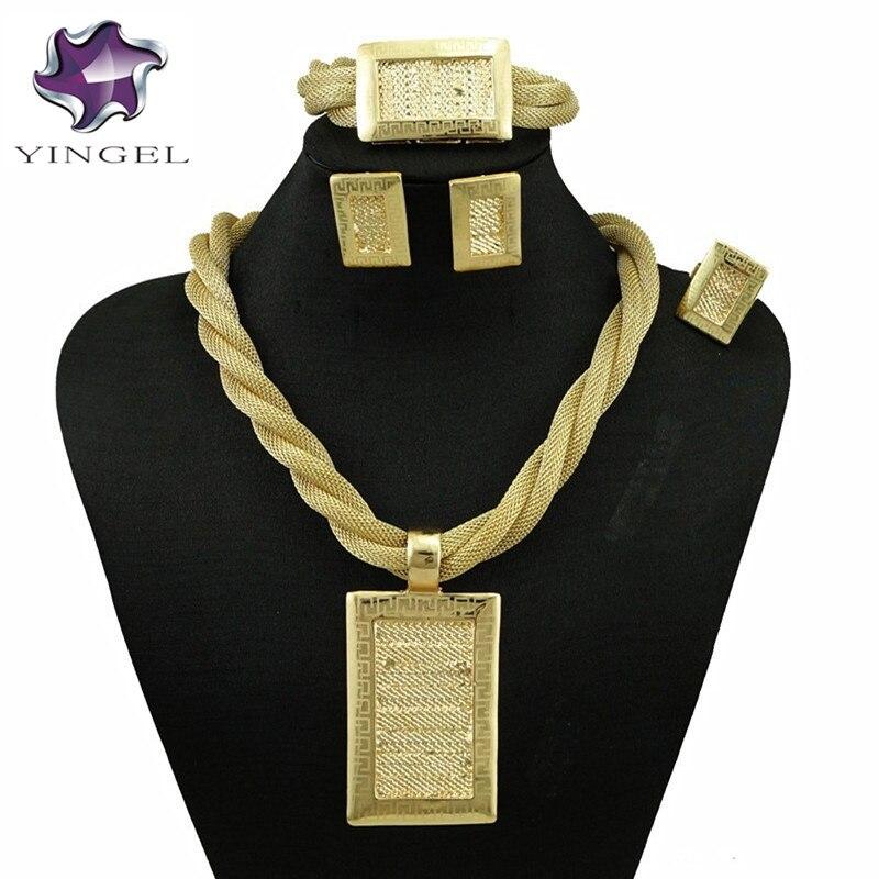 afrikanische schmuck sets18k gold edlen schmuck sets große schmuck - Modeschmuck - Foto 2