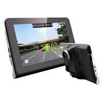 7 Inch Car GPS Navigation Quad Core Android Tablet GPS DVR Camcorder Radar Speed Detector Rear