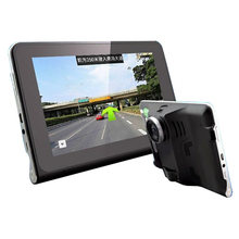 7 inch Car GPS Navigation Quad Core Android Tablet GPS DVR Camcorder Radar Speed Detector Rear View Camera 16GB ROM +16GB Card