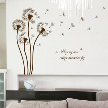 Romantic Dandelion Wall Sticker Home Decoration For Kids Room DIY Living Room Sofa Background Mural Art Decals Poster Stickers