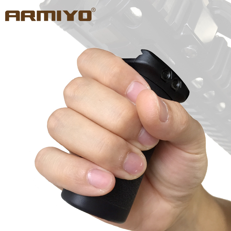 Armiyo Tactical 20mm Rail Vertical Grips Handle Forward Gun Rack Shooting Hunting Accessories Black Dark Earth