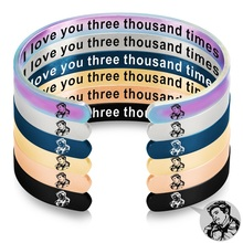 Avengers 4 iron Man I love you three thousand times Stainless Steel Bangle Mantra Inspirational Bracelet for Father's Day Gift three man 4
