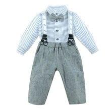 Комплекты одежды для младенцев рубашка в полоску + штаны на
