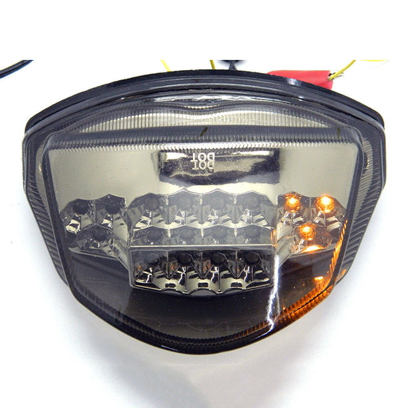 Smoke LED Integrated Taillight For 2008 Suzuki GSXR 600+Sportbike Keychain