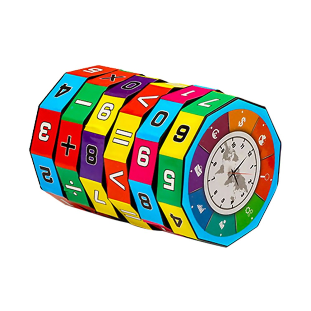1PC Plastic Colorful Fun Counting Puzzle Creative Cylindrical Number Toys For Children Early Education Learning Tools Xmas Gifts