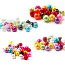 Выберите размер 4 мм 6 мм 8 мм 10 мм, 18 цветов, ABS имитация жемчуга бусины, делая ювелирные изделия из бисера, ювелирное ожерелье ручной работы