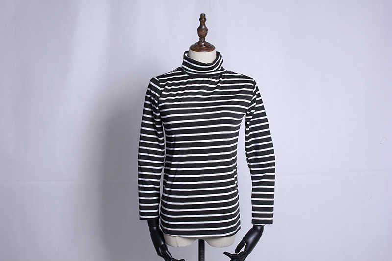 U-SWEAR Mode vrouwen Hoge Hals Effen Strench Lange Mouwen Klassieke Tops Herfst Lente T-Shirts Hoge Kwaliteit Harajuku