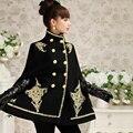 Dabuwawa 2015 winter luxurious middle long cloak coat