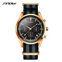 Espião 007 de ouro dos homens sports relógios de pulso cronógrafo sinobi militar da nato nylon pulseira de luxo da marca homens relógio de quartzo g14