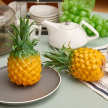 Simulation Fruit Pineapple Ornaments Props Simulation Fruit Vegetable Food Model Home Cabinet Artificial Props Room Decoration