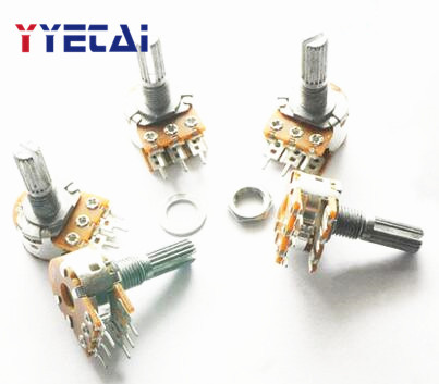 YongYeTai Double WH148 Potentiometer B50K Handle Length 15MM With Nut Free Shipping