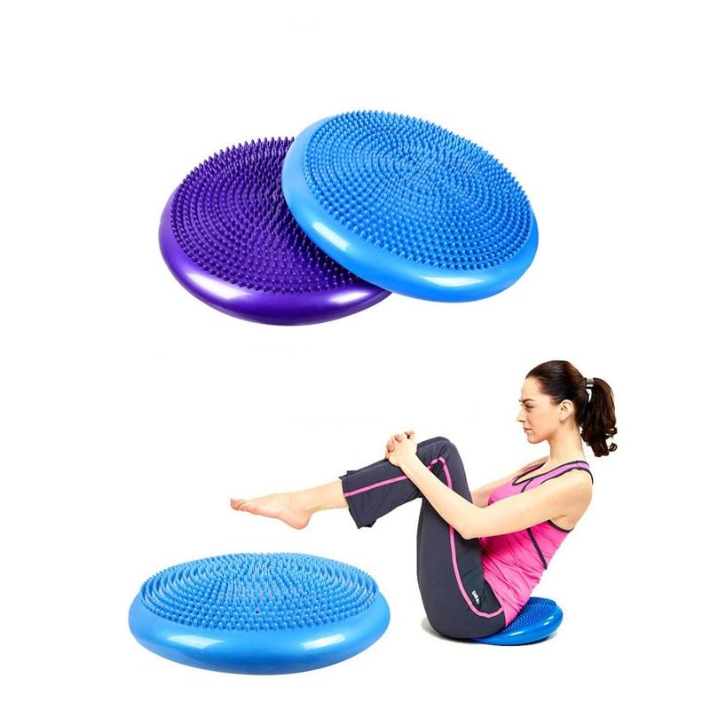 Inflatable Yoga Massage Ball Massage Cushion Balance Pan Ankle Yoga Ball Rehabilitation Training Air Cushion Explosion Ball