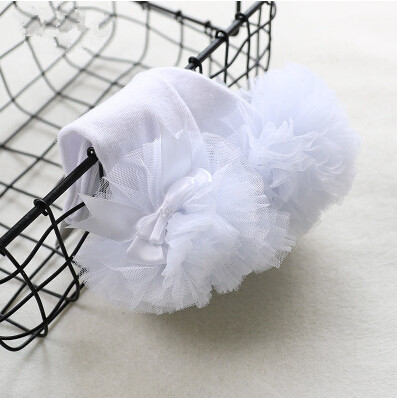 2019 Spring new children's tube socks girls in tube socks infant cotton sweet gauze lace bow princess socks 2