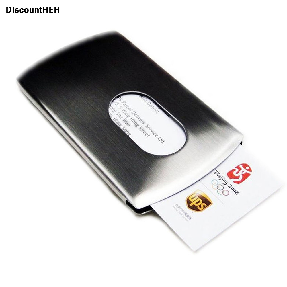 High Grade Stainless Steel Business Name Card Holder Cover Solid ...