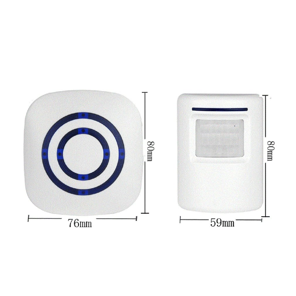 0256 Waterproof Wireless Digital Doorbell with Sensor Infrared Detector in Doorbell from Security Protection