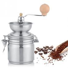 Ayarlanabilir Manuel Kahve Değirmeni Yıkanabilir Kahve Çekirdekleri Grinde Baharat Ve Kahve Değirmeni El Kahve Makinesi