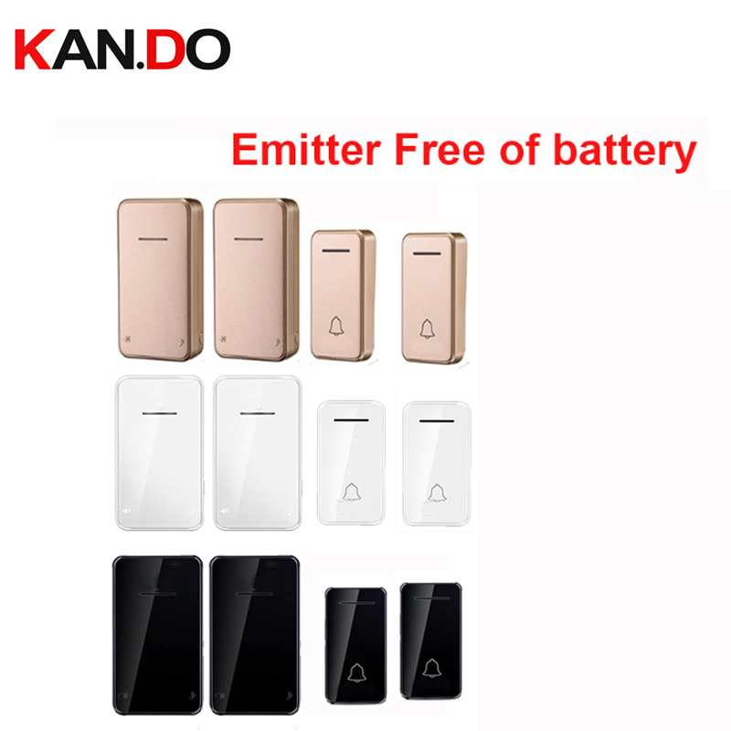 3 COLOR Emitter Free Of Battery Bell Kits 2 TX 2 RX Wireless Door Bell 110-220V Wireless Doorbell Ip44 200M Door Chime Door Ring